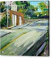 South Main Street Train Crossing Acrylic Print by Scott Nelson