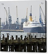 Southampton Old Pier And Docks Acrylic Print by Jane Rix