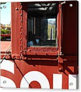 Southern Pacific Caboose - 5d19235 Acrylic Print by Wingsdomain Art and Photography