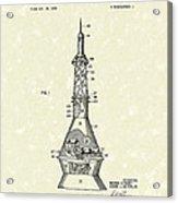 Space Capsule 1961 Patent Art #1 Acrylic Print by Prior Art Design