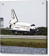 Space Shuttle Discovery On The Runway Acrylic Print by Stocktrek Images