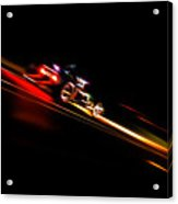 Speeding Hot Rod Acrylic Print by Phil 'motography' Clark