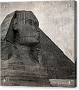 Sphinx Vintage Photo Acrylic Print by Jane Rix