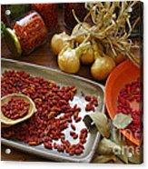 Spicy Still Life Acrylic Print by Carlos Caetano