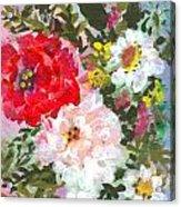 Splashy Flowers Acrylic Print by Debbie Wassmann