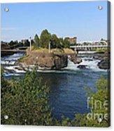 Spokane Falls Hdr Acrylic Print by Carol Groenen