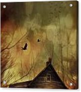 Spooky House At Sunset  Acrylic Print by Sandra Cunningham