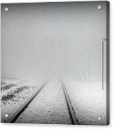 Spooky Train Tracks Acrylic Print by Ms Judi