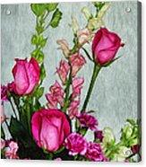 Spray Of Flowers Acrylic Print by Judi Bagwell
