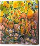 Spring Time Flowers Acrylic Print by Audrey Peaty