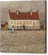 Square - Fort-philippe Acrylic Print by Henri Eugene Augustin Le Sidaner