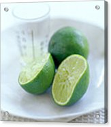 Squeezed Lime Acrylic Print by David Munns