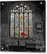 St Dyfnog Window Acrylic Print by Adrian Evans