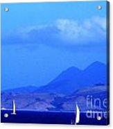 St Kitts Sailing Acrylic Print by Thomas R Fletcher