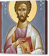 St Luke The Evangelist Acrylic Print by Julia Bridget Hayes