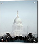 St Paul's Cathedral Acrylic Print by Pixel  Chimp