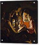 St. Sebastian Tended By Irene Acrylic Print by Georges de la Tour