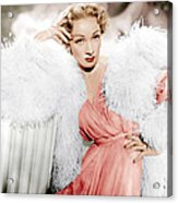 Stage Fright, Marlene Dietrich Wearing Acrylic Print by Everett