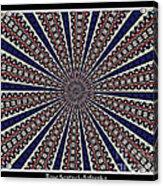 Stained Glass Kaleidoscope 49 Acrylic Print by Rose Santuci-Sofranko