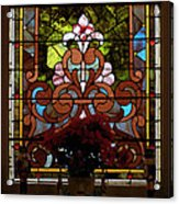 Stained Glass Lc 17 Acrylic Print by Thomas Woolworth