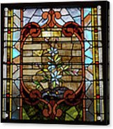 Stained Glass Lc 18 Acrylic Print by Thomas Woolworth