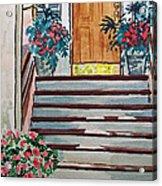 Stairs Sketchbook Project Down My Street Acrylic Print by Irina Sztukowski