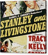 Stanley And Livingstone, Spencer Tracy Acrylic Print by Everett