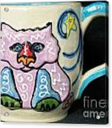 Star Kitty Mug Acrylic Print by Joyce Jackson