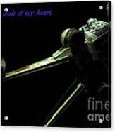 Star Wars Card Acrylic Print by Micah May