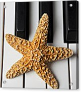 Starfish Piano Acrylic Print by Garry Gay