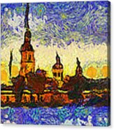 Starred Saint Petersburg Acrylic Print by Yury Malkov