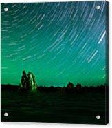 Starry Landscape Acrylic Print by Marius Sipa