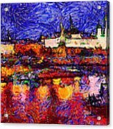 Starry Moscow Acrylic Print by Yury Malkov
