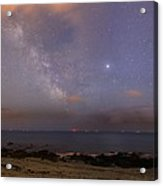 Stars And Jupiter In A Night Sky Acrylic Print by Laurent Laveder