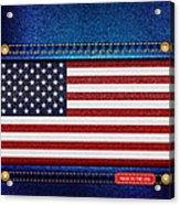 Stars And Stripes Denim Acrylic Print by Jane Rix