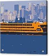 Staten Island Ferry Color 16 Acrylic Print by Scott Kelley