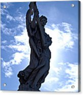 Statue In Rome Acrylic Print by Andres Leon