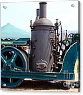 Steam Powered Roller 7d15116 Acrylic Print by Wingsdomain Art and Photography