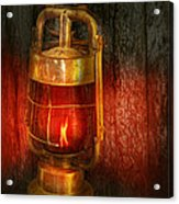 Steampunk - Red Light District Acrylic Print by Mike Savad