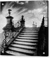 Steps At Chateau Vieux Acrylic Print by Simon Marsden