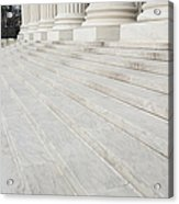 Steps Leading To The Supreme Court Acrylic Print by Roberto Westbrook