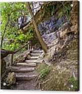 Steps To The Cave Acrylic Print by Lisa  Spencer