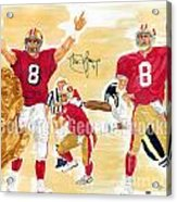 Steve Young - Hall Of Fame Acrylic Print by George  Brooks