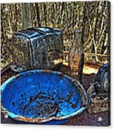 Still Life With Blue Plate Special Acrylic Print by William Fields