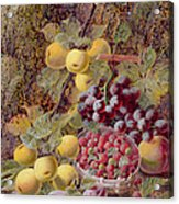 Still Life With Fruit Acrylic Print by Oliver Clare