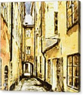 Stockholm Old City Acrylic Print by Yury Malkov
