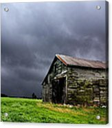 Stormy Barn Acrylic Print by Cale Best