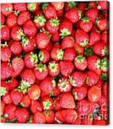 Strawberries  Acrylic Print by Yali Shi