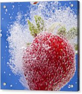 Strawberry Soda Dunk 1 Acrylic Print by John Brueske