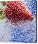 Strawberry Soda Dunk 2 Acrylic Print by John Brueske